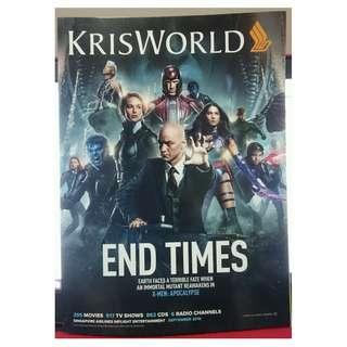 X-Men: Apocalypse Kris World Sep 2016 Magazine James McAvoy Jennifer Lawrence