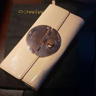 Mimco large turnlock wallet in Pancake