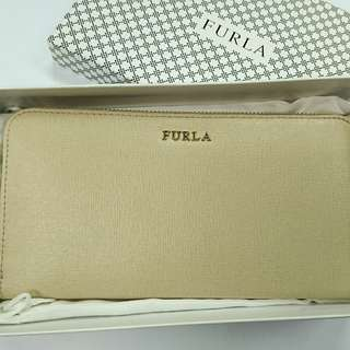 Furla Women's Babylon XL Zip Around Purse Wallet - Maple (Furla長款拉練大銀包)