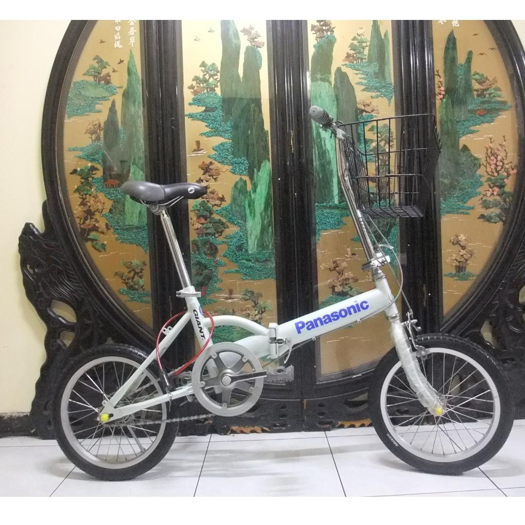 還滿新的16吋捷安特GIANT(fd601)白色折摺疊腳踏車.桃園市自取