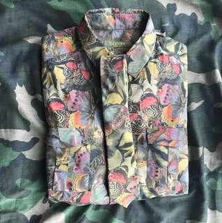 valentino camobutterfly shirt