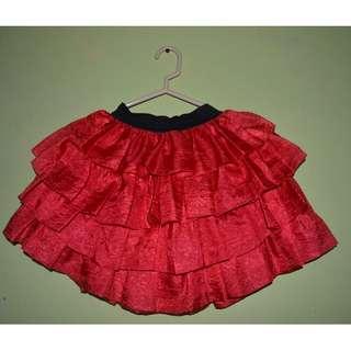 skirt for women (red)