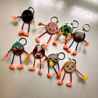 Minecraft characters keychain (each piece)