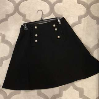 Kate Spade pearl button A line skirt