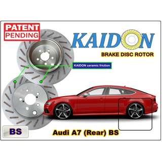 "AUDI A7 disc rotor KAIDON (Rear) type ""BS"" / ""RS"" spec"
