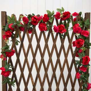 Artificial Red Rose Vines **RENTAL** Props & Deco Wedding / Events Used