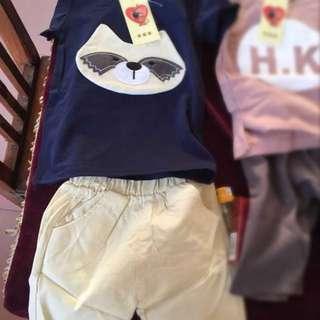 Boy set t-shirt and shorts