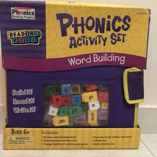 2 sets phonics program reading rods
