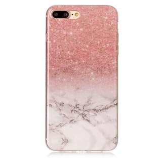 Marble glitter-like iPhone 7+/8+ case