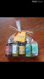 L'OCCITANE gift set shower gel lotion hair shampoo