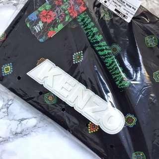 BN AUTHENTIC KENZO X H&M HM SCUBA BLACK PRINTED POUCH CLUTCH BAG