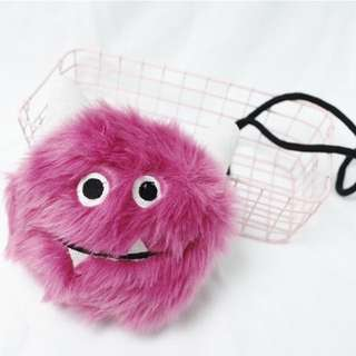 Zara Girls Furry Monster Handbag