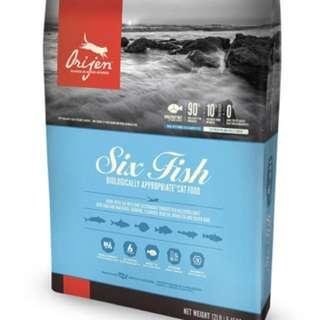 Orijen six fish cat food