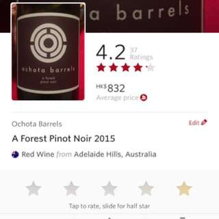 Limited edition [97 points] Pinot Noir 2015