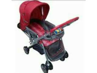 Baby 1st Stroller red and baby 1st walker blue