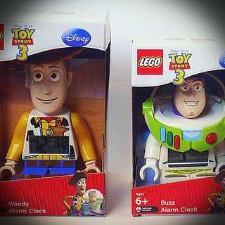 Toy Story LEGO Clock Buzz + Woody 電子鐘 Disney Pixar
