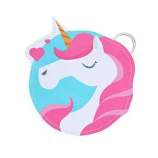 Cyan hearts Unicorn coin purse