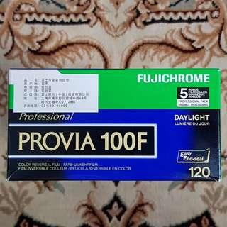 120mm Fuji Fujichrome Provia 100F Fresh Slide Film ( iso 100 ) 120 medium format