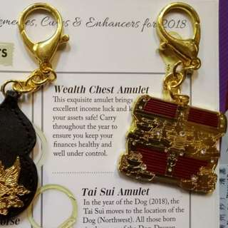 Wealth chest amulet - lillian too feng shui