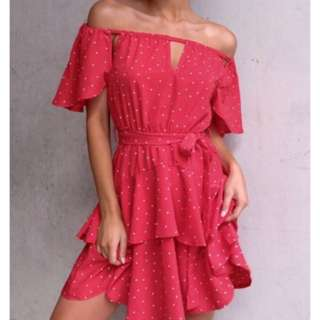 Mishkah red polkerdot dress