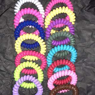 Telephone coil hair ties