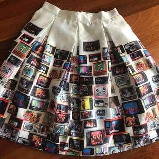 Designer TV 📺 Skirt | One of a kind | Italian design , Made in Turkey
