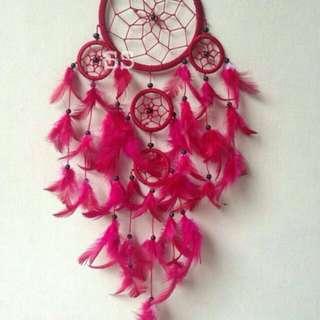 Dream Catcher 11cm Merah