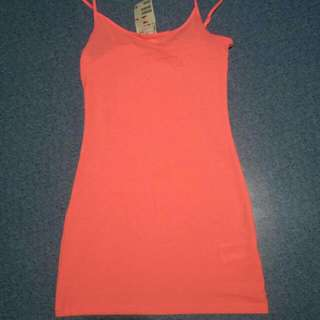 Brand New Basic H&M Pink Long Top Or Short Dress ( Small)