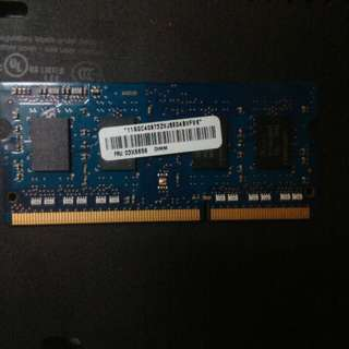 Laptop DDR3 RAM 4gb and 2x 2gb