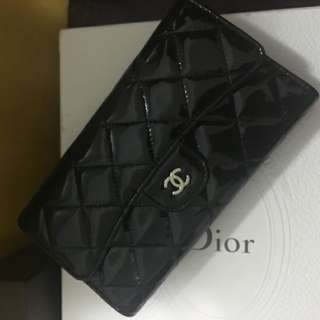 Chanel Patent Classic Flap Wallet