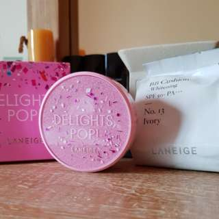 Laneige Whitening Cushion Refill No. 13 (Delights Pop pink puff edition) + Casing