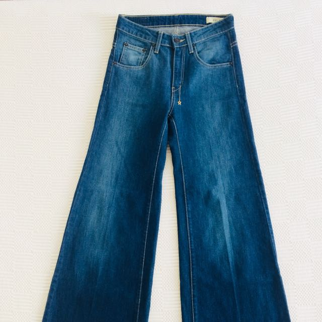 70's Flared Denim Jeans, 18th Amendment:Colbert
