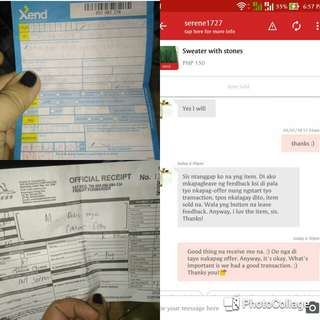 proof of transaction... thank you!❤