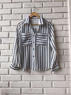 Stripped Black and White Shirt