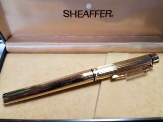 Sheaffer TARGA 1005 Fountain Pen - Gold Fluted, 14k Nib