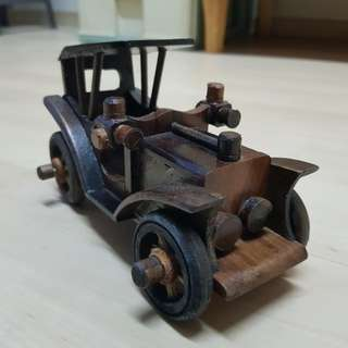 Handcrafted Old Car Model Wood