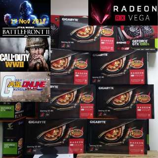 Gigabyte RX VEGA 56 8G Radeon™. ( Start Gaming Star War Battlefront II, Call of Duty WWII, Gundam Online Today) ( 2 month ago, OLD )