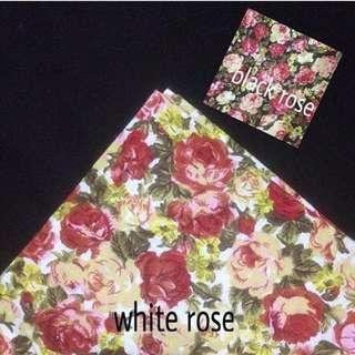 Hijab Motif (white rose)