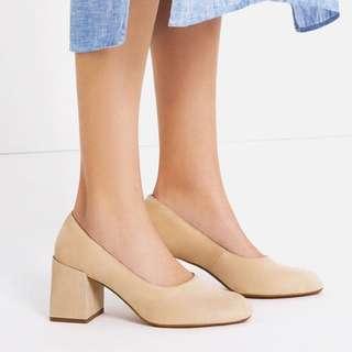 ZARA WOMEN Suede Block Heels
