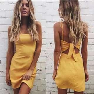 (5 Colours) Straight Cut Cami Tie Back Dress! #huat50sale