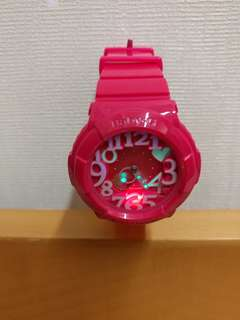 Baby-G 粉紅色 會夜光心心