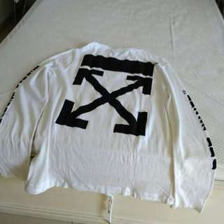 "Off White ""Mirror Mirror"" Arrow Longsleeves Tee"
