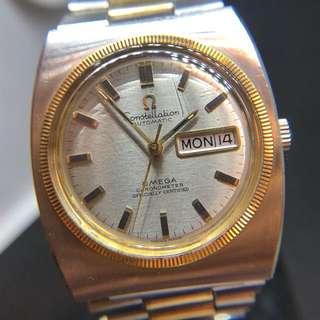 【古董歐米茄】♎️Omega Constellation 金鋼星座系列 1970's Automatic Movement Gold And Stainless steel Design (751) Watch