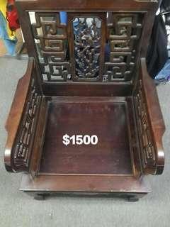 單座花梨老料椅