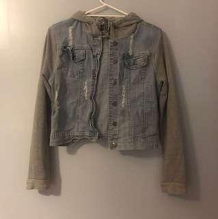 RRP// $134 Denim Hoodie jacket 👖