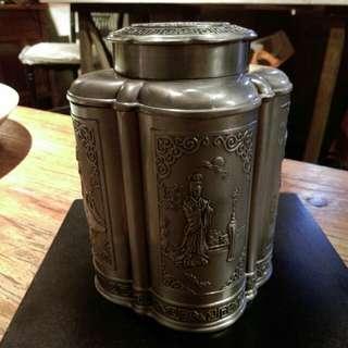 日本老件錫茶罐