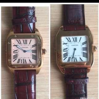 Jam tangan Cartier 2 face , mirror , limited
