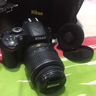 Nikon D5100 with kit lens 18-55mm