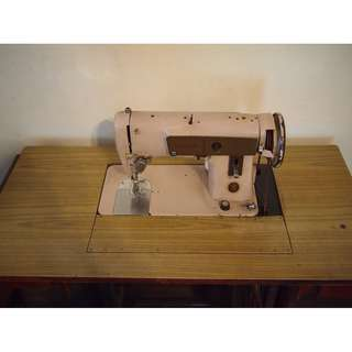 Family Antiques: Authentic Singer Sewing Table & Machine