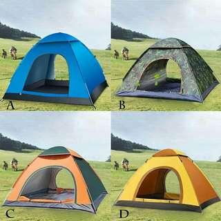 Double door hiking camping tent khemah